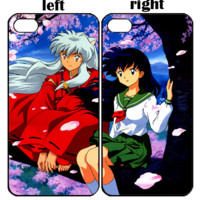 inuyasha and kagome2 z0080 iphone 4s 5s 5c 6 6plus, ipod 4 5, lg g2 g3 nexus 4 5, sony z2 couple cases