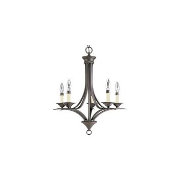 Progress Lighting Trinity 5 Light Candelabra Chandelier