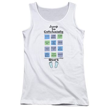 Office Space - Jump To Conclusions Juniors Tank Top Officially Licensed Apparel
