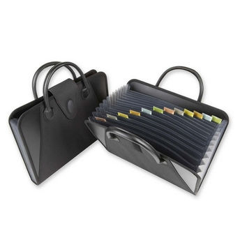 c-line products, inc. expanding file,w handles,13-pockets,holds 300 sheets,black Case of 2