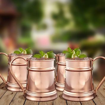 Reinfield Copper Mugs, Set of 4