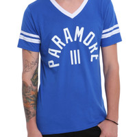 Paramore Blue White Athletic T-Shirt