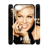 Singer Pink p!nk Iphone 4 4S polymer case cover