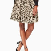 leopard-print clipped dot skirt