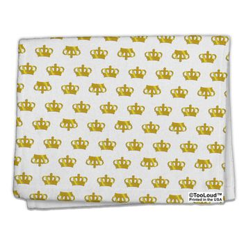 "Gold Crowns AOP 11""x18"" Dish Fingertip Towel All Over Print by TooLoud"