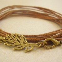 SHEET Vintage jewelry bands Bronze Leaf by AsaiBolivien on Etsy 7,90 US$