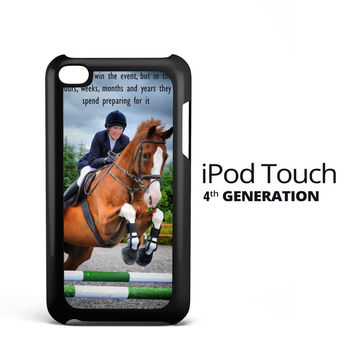 horse jumping photography Y2410 iPod Touch 4 Case
