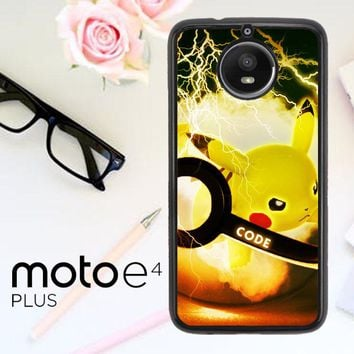 Pikacu Pokemon Ball Wallpaper Y1834 Motorola Moto E4 Plus Case