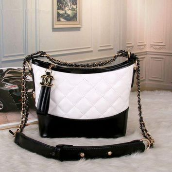 DCCKVQ8 Chanel' Women Fashion Multicolor Quilted Personality Wandering Bucket Bag Single Shoulder Messenger Bag