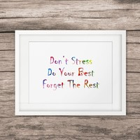 Inspirational Quotes Painting Watercolor Print Wall Pictures Quotes Wall Art Poster Creative Gift Home Decor No Frame