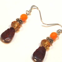 Autumn Gemstone Earrings - LinorStore Jewelry & Kippah