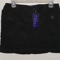 Max Azria Junior Size 11 Black Scrunchy Skirt New