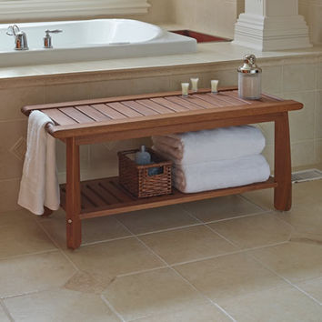 The Brazilian Eucalyptus Bathroom Bench
