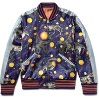 Gucci - Space Animals Slim-Fit Printed Satin Bomber Jacket