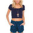 Later Girl Floral Shorts in Blue