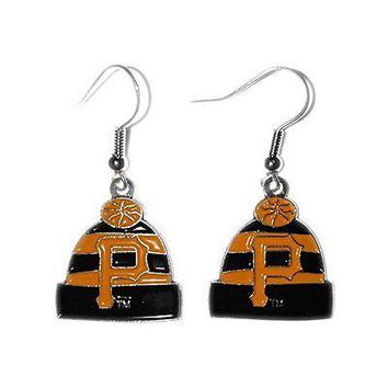 Pittsburgh Pirates Beanie Hat Dangle Earrings