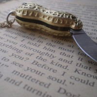 Peanut pocket knife necklace by littlepancakes on Etsy