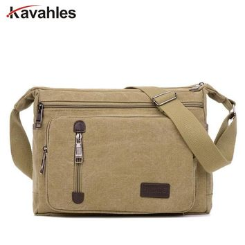 2018 New Male Big Capacity Messenger Bags Fashion Vintage Men Canvas Handbags High Quality Men Shoulder Bags LW-62