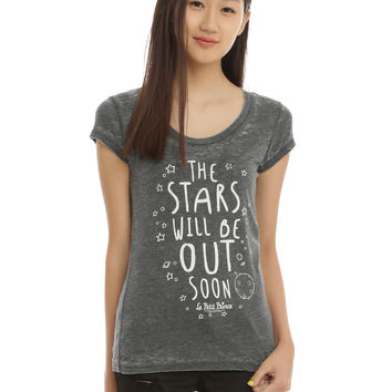 The Little Prince Stars Will Be Out Burnout Girls T-Shirt