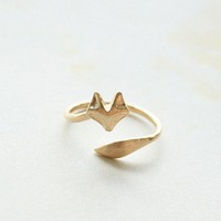 Gold Fox Ring Adjustable Ring Knuckle Ring Simple Ring Everyday Ring Tiny Ring Minimalist Ring Gift Rings Dainty Jewelry