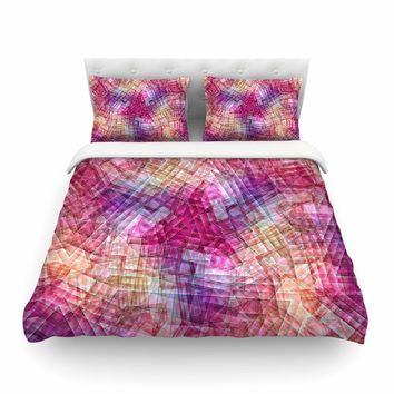"Justyna Jaszke ""Mandala Colors Of Life"" Multicolor Pastel Abstract Pattern Digital Illustration Featherweight Duvet Cover"