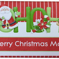 40g Personalised Christmas Chocolate Bars - Ho Ho Ho