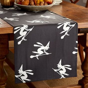 Broomstick Witches Table Runner