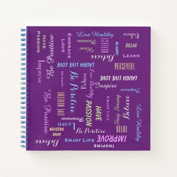 Motivational Inspirational CHOOSE YOUR COLOR Fun Notebook