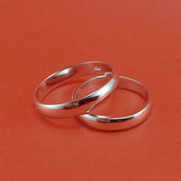 One Pair-Sliver Promise Rings Set. Engagement ring wich the black stripe,simple design ring