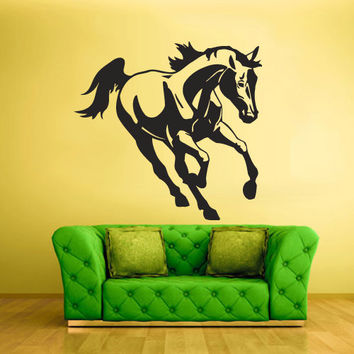 Wall Vinyl Sticker Decals Decor Art Bedroom Wall Decal Design Mural Horse Equine Running Nag Animal (z2125)