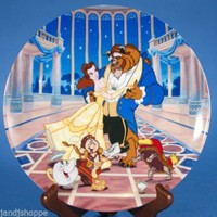Disney Beauty and the Beast Collectible Plate Loves First Dance COA 84-K41-162.1