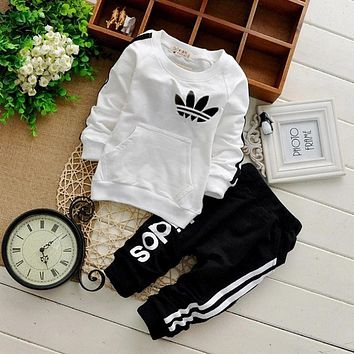 Brand Baby Clothes Suits Causal Baby Girls Boys Clothing Sets Children Suits Clothes 2 Pieces Sweatshirts Sports Pants Kids Sets