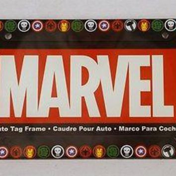 Marvel Comic Heroes Auto License Plate Frame Molded Plastic CAR TRUCK