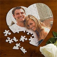Personalized Photo Puzzle - Love Connection Heart - Valentine's Day Gifts