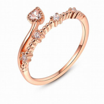 Fashion Flower Rattan 18K Rose Gold Plated Punk Retro Finger Ring Women Engagement Wedding Band Bride Rings Diamond Crystal Jewelry Gifts = 5987862593