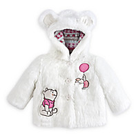 Winnie the Pooh and Piglet Faux Fur Coat for Baby