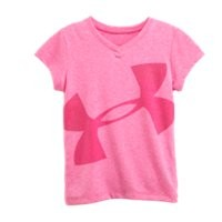 Under Armour Girls' Infant UA Big Logo Glitter V-Neck