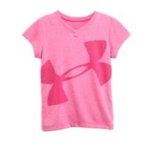 Under Armour Girls' Toddler UA Tech Exploded Logo V-Neck