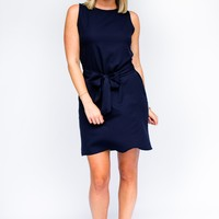 All the Feels Bow Tie Dress in Navy