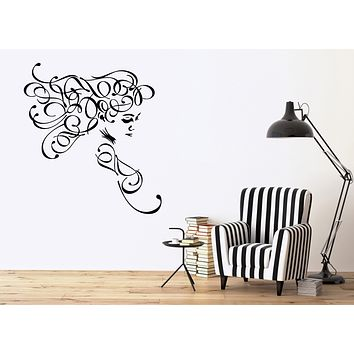 Large Vinyl Decal Sexy Beautiful Girl Wall Sticker Beauty image Decor Unique Gift (n632)