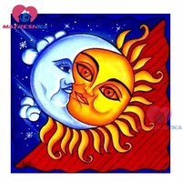 5D Diamond Painting Blue and Red Sun Kit