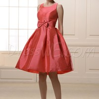 Attractive Bowknot Empire Waist Jewel Neckline Knee-Length Bridesmaid Dress 10645076 - Bridesmaid Dresses 2014 - Dresswe.Com