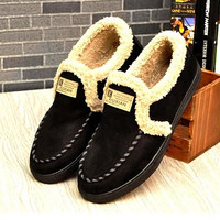 Extra Warmth Men's Winter Slip On Casual Shoes