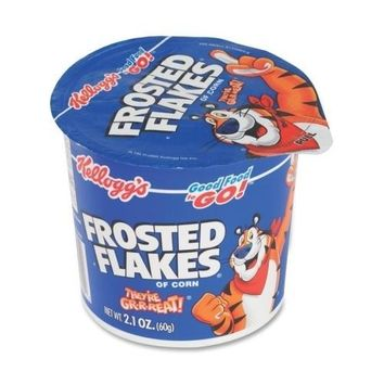 Keebler Cereal-in-a-Cup, Super Size, 2.1 oz., 6-PK, Frosted Flakes - CASE OF 3