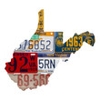 West Virginia License Plate wall decal