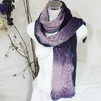 Purple wool scarf, Pink purple scarf, Violet woman wool scarf, Handmade scarf women, Unique Christmas Gift, Unique purple scarf, Woman gift