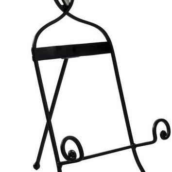 Wrought_Iron_Table_Top_Easel,_Decorative_Tripod_Design,_9-1/2??W_x_12-1/4??H_-_Black_19448