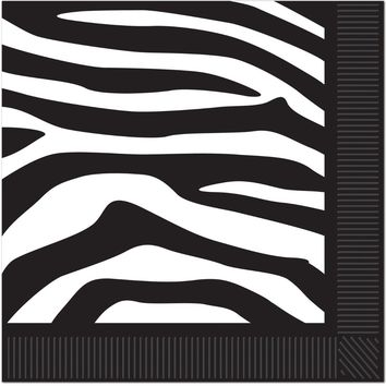zebra print beverage napkins Case of 24