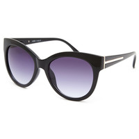 Full Tilt Red Carpet Cateye Sunglasses Black One Size For Women 25377810001