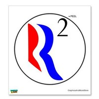 R Squared - Romney Ryan - Window Bumper Locker Sticker | AihaZone Store